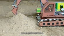 小哥用纸板制作电动挖掘机,各项功能齐全,这技术一般人做不出来